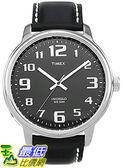 [105美國直購] Timex Mens 男士手錶 #T28071 Easy Reader Watch With Black Leather Band