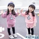 新款女寶寶秋冬套裝1女童洋氣2冬裝0嬰兒童裝3歲冬季時髦衣服 OO1210【甜心小妮童裝】