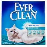 《缺貨》【寵物王國】【免運費】EVER CLEAN藍鑽-【白標】粗顆粒活性炭結塊貓砂25磅(11.3kg)