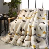 兒童加厚秋冬季拉舍爾毛毯被子珊瑚絨毯子男童保暖雙層蓋毯法蘭絨 夢幻小鎮ATT