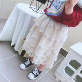 童裝春夏季甜美女童寶寶半身裙 中小兒童公主蕾絲蛋糕長裙 ⊱歐韓時代⊰