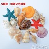 熱銷魚缸擺件天然海螺貝殼珊瑚大海星水族箱裝飾魚缸造景套餐工藝品擺件母海膽LX
