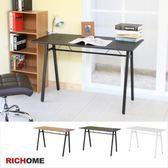 【RICHOME】超值E1板A字工作桌-黑色