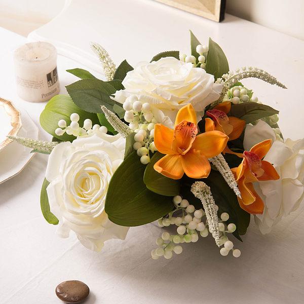 模擬花假花 套裝 花藝 客廳餐桌 裝飾花 花瓶花束 -bri02005