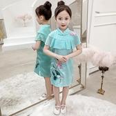 中大女童夏裝4兒童連身裙洋氣旗袍小女孩7洋裝8小學生夏季潮流童裝 yu12976『寶貝兒童裝』