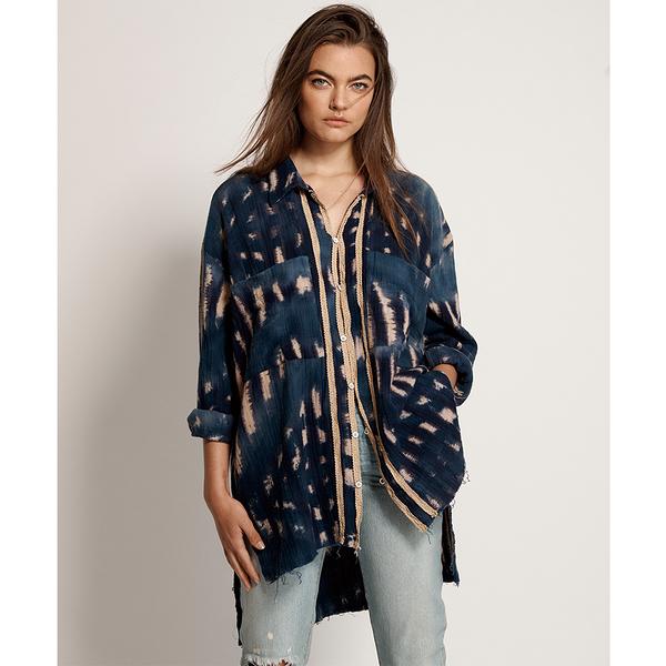 ONETEASPOON WW HAND TIE DYE SANTORINI SHIRT 襯衫-藍(女)