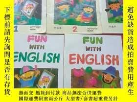二手書博民逛書店Fun罕見with English (佳音英語4+作業本1,2,