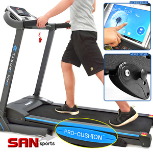 阿努比斯3HP電動跑步機(14組避震墊+3段坡度)電跑美腿機.走步機散步機.運動健身器材【SAN SPORTS】