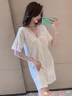 性感睡衣睡衣睡裙女夏季短袖純棉薄款性感2021年新款開衫可愛公主風家居服 愛丫