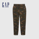 Gap男童 簡約風格純色鬆緊腰運動褲 494148-綠色迷彩