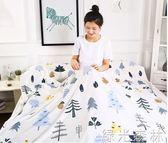 床單睡袋 隔臟睡袋純棉輕便攜式室內單雙成人出差防臟床單 綠光森林