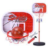 兒童鐵桿籃球架可升降投籃框家用室內寶寶