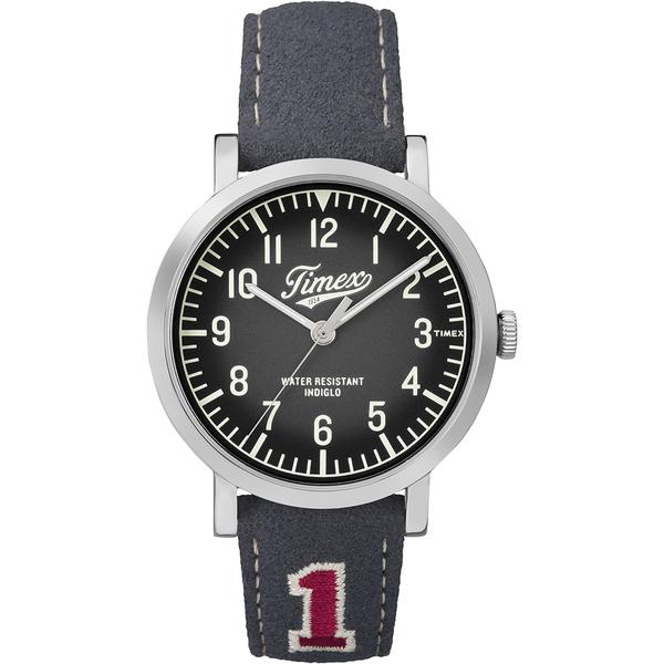 【TIMEX】天美時復刻University系列學院風手錶(黑/灰 TXT2P92500)
