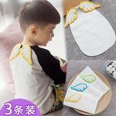 嬰兒童純棉吸汗巾寶寶墊背巾0-1-3-4-6歲翅膀隔汗巾6層紗布幼兒園  居家物語