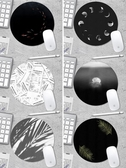 原創設計滑鼠墊錦鯉水母可愛女男生圓形加厚小號辦公游戲簡約電腦   韓慕精品