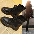 馬丁靴女英倫風年春秋單靴秋季秋冬秋鞋內增高瘦瘦短靴子快速出貨