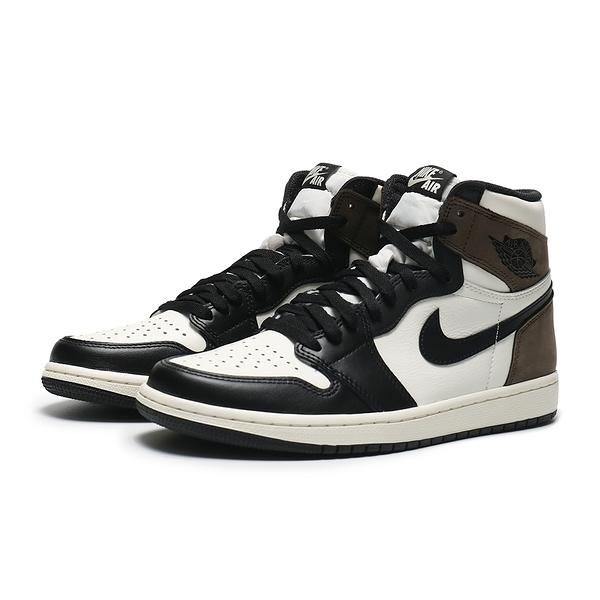NIKE 籃球鞋 JORDAN AJ1 RETRO HIGH OG DARK MOCHA 小倒鉤 TS平民版 黑摩卡 男(布魯克林) 555088-105
