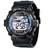 JAGA M979-AE G-SH系列 粗礦豪邁多功能電子錶-黑藍 (公司貨/保證防水可游泳)