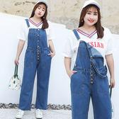 ★韓美姬★中大尺碼~前排扣俏皮背帶褲(XL~5XL)