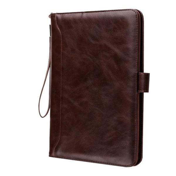 IPad Air 2 3 2019 皮革保護套復古隱藏磁扣智能休眠皮套插卡書本平板保護套