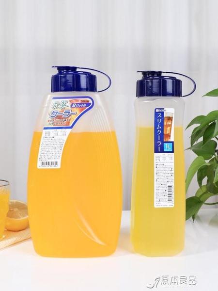 冷水壺 日本進口耐熱冷水壺扎壺涼水壺大容量超大耐高溫水瓶【快速出貨】