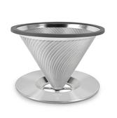 黃金流速濾杯(附底盤)-大 手沖咖啡 咖啡濾器 濾杯 手沖濾杯 咖啡濾杯 金屬濾杯 現貨