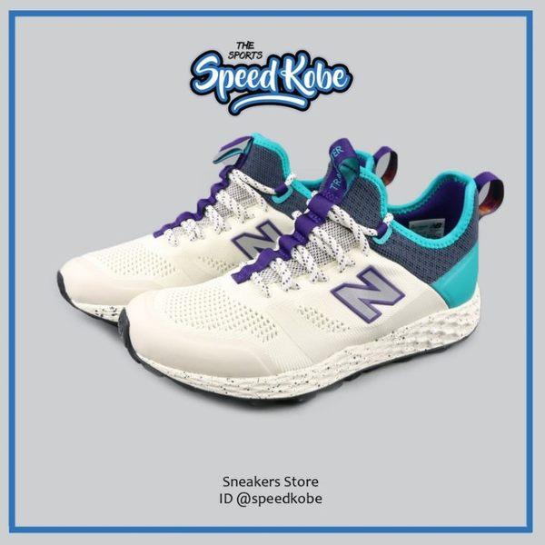 New Balance 越野慢跑鞋 藍蒂綠卡其 中筒 運動鞋 男鞋 MFLTBDWP【Speedkobe】