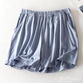 睡褲 莫代爾睡褲夏短褲女寬鬆休閒薄款帶口袋可外穿短款居家睡褲女夏天 愛麗絲