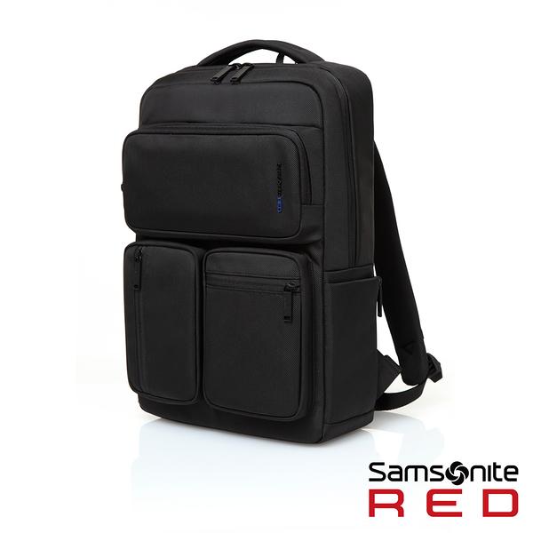 Samsonite RED 新秀麗 ALLOSSE 多隔層收納型 筆電後背包14吋-墨黑
