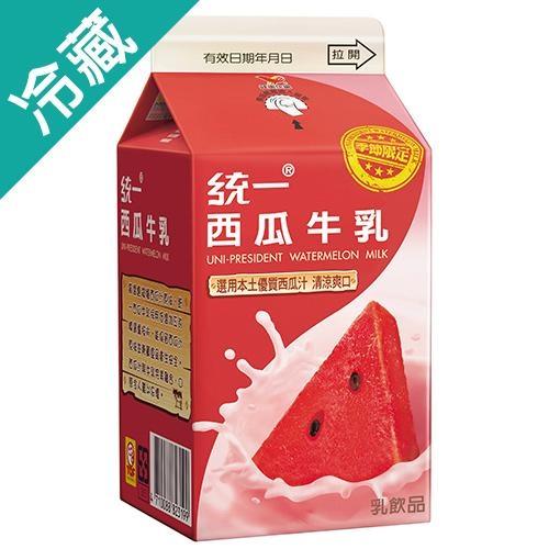 統一西瓜牛乳400ml【愛買冷藏】