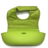 【拆售商品 特價 】美國 OXO  Bib 可收捲防碎屑圍兜 / 防水圍兜 / 防漏接圍兜【綠色】-超級BABY