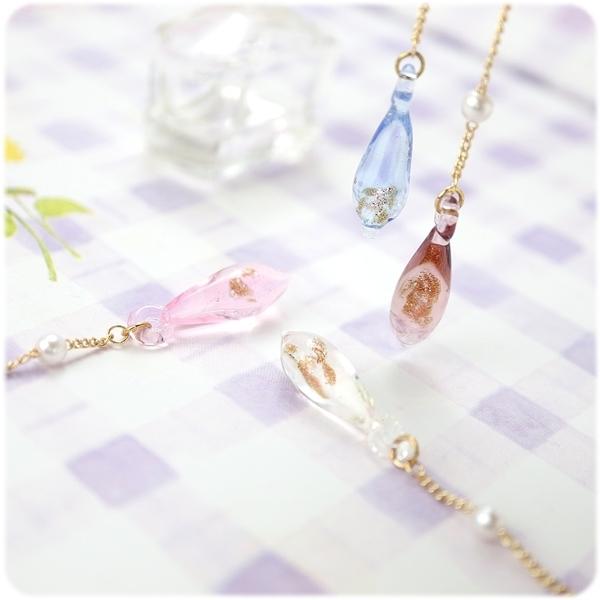 耳環 琉璃 珍珠 流金歲月 耳環座可選搭 (單只價) i917ღ