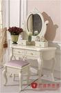 [紅蘋果傢俱] 930 歐式玫瑰系列 化妝台 梳妝台 歐式 鏡台 法式化妝台 (另售化妝椅)