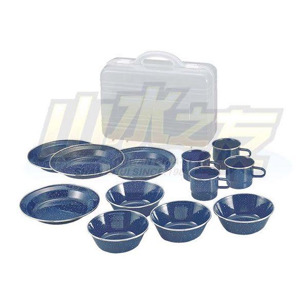 【山水網路商城】日本 CAPTAIN STAG 鹿牌 小家庭琺瑯食器組附附盒 不鏽鋼陶瓷 家庭套鍋 M-1078
