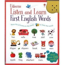 【小小孩的聲音字典】LISTEN AND LEARN FIRST ENGLISH WORDS /邊聽邊讀字彙聲音書