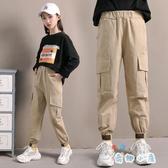女童工裝褲夏季兒童褲子運動薄款長褲百搭【奇趣小屋】