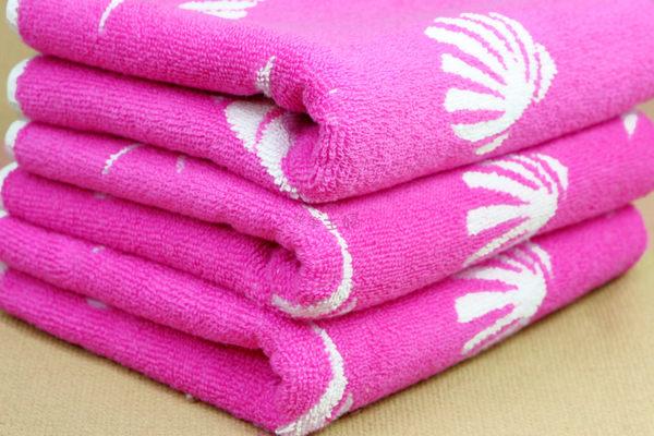 超厚58兩170g 純棉毛巾 運動毛巾 無毒安全 厚實耐用超吸水 / 海洋之星 粉 / 台灣製造 【快樂主婦】
