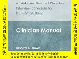 二手書博民逛書店Anxiety罕見And Related Disorders Interview Schedule For Dsm