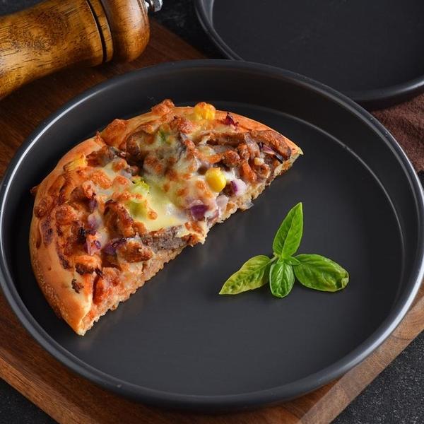 披薩盤 6/8/9/10/12寸批薩深烤盤 圓形家用pizza盤烘焙模具烤箱用 伊衫風尚