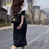 黑色半身裙女年秋冬新款氣質高腰顯瘦a字裙中長款包臀長裙 雙十二全館免運