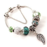 手鍊 串珠-水晶飾品樹葉吊墜生日情人節禮物女配件3款73bo17【時尚巴黎】