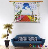 壁貼【橘果設計】窗外 DIY組合壁貼 牆貼 壁紙 壁貼 室內設計 裝潢