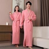加長加厚保暖浴袍純棉吸水浴衣酒店情侶睡袍夾棉冬季男女一對睡衣 【雙十一】