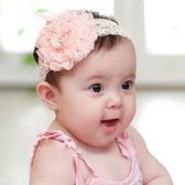 大玫瑰花寬蕾絲髮帶 兒童髮飾 造型髮帶