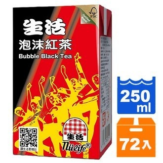 生活 泡沫紅茶 250ml (24入)x3箱【康鄰超市】
