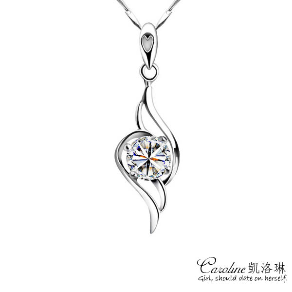 《Caroline》★【天使羽翼】甜美魅力、迷人風采水晶時尚項鍊【附白鋼項鍊】66079
