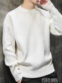 毛衣男 秋冬季新款男士韓版毛衣潮流個性冬裝針織衫寬鬆線衣加絨加厚   poly girl