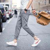 七分褲褲子潮男韓版潮流休閒寬鬆短褲夏季修身百搭 曼莎時尚