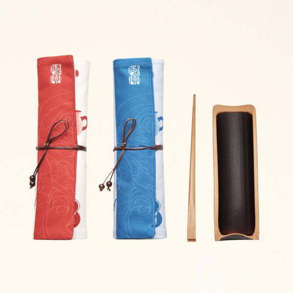 陸寶茶配件 當代茶事道具- 茶則茶針 便攜布包