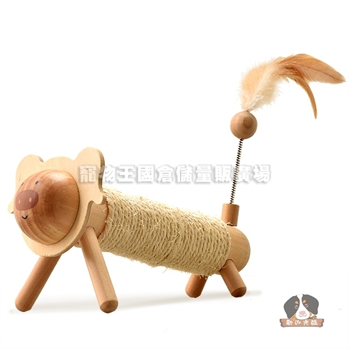 【寵物王國】EARTHY PAWZ彩繪豬造型貓咪磨爪玩具25x11x14cm